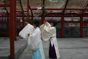 仮拝殿 上棟祭