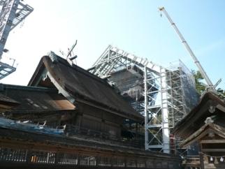 素屋根の建設工事
