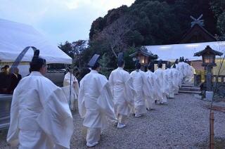 因佐神社 仮殿遷座祭