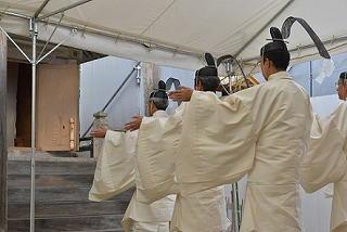 釜社 仮殿遷座祭